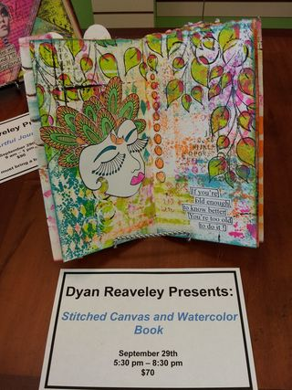 Watercolor and canvas book
