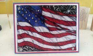 Flag glitter card